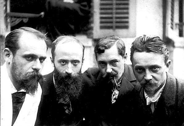 Ker-Xavier_Roussel,_Édouard_Vuillard,_Romain_Coolus,_Felix_Vallotton_1899